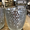 Thumbnail: Ridged Silver Mottled Tealight Holders