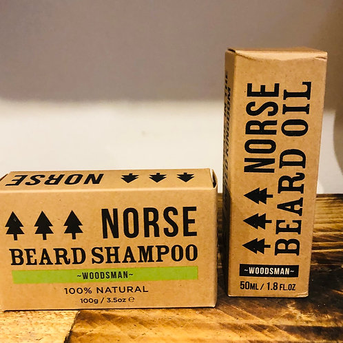 Norse Beard Shampoo & Beard Oil Gift Bundle