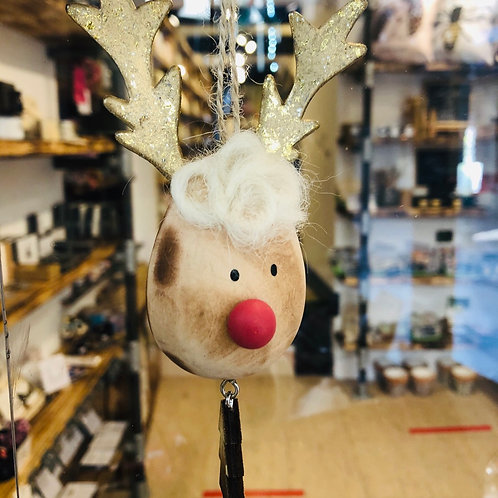 Wooden Reindeer Hanging Decoration