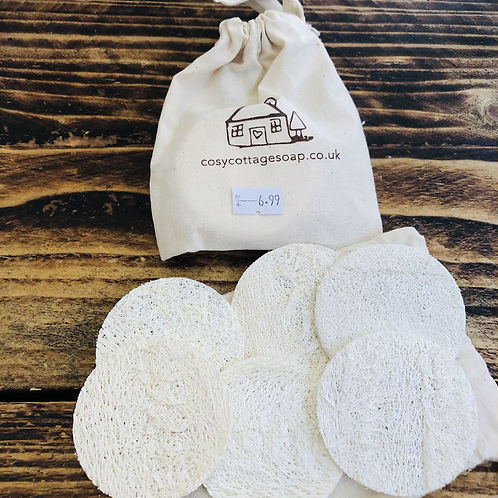 Cosy Cottage Natural Loofah Discs