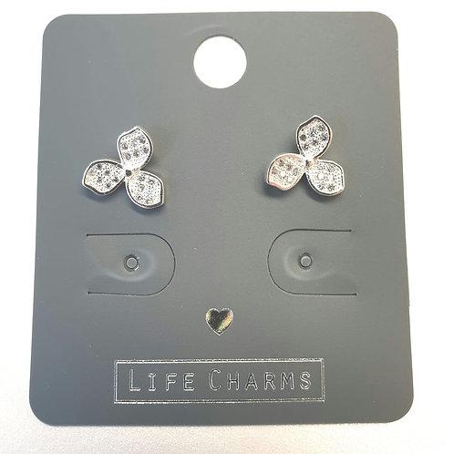 Cubic Zirconia Lily Earrings