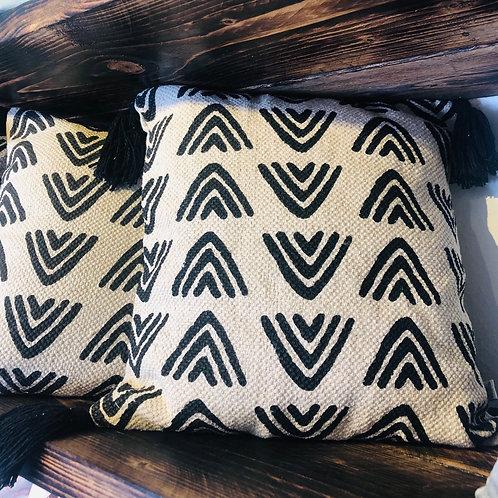 Terracotta Triangles Print Cushion