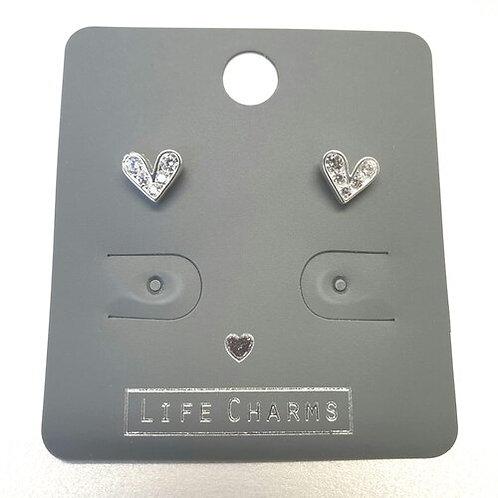 Cubic Zirconia Cute Heart Earrings