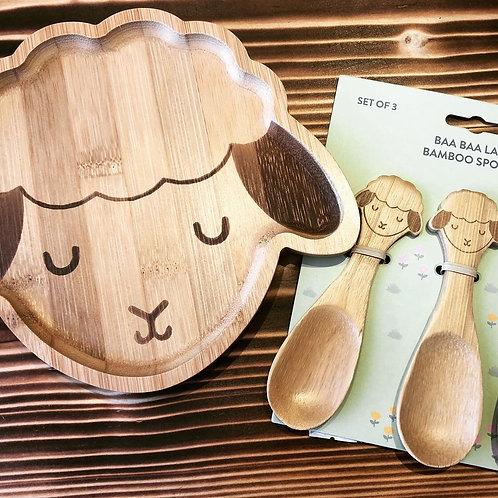 Lamb Bamboo Cutlery Set