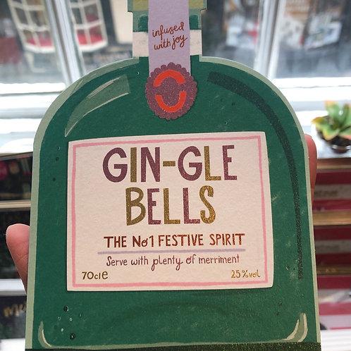 Gin-Gle Bells Christmas Card