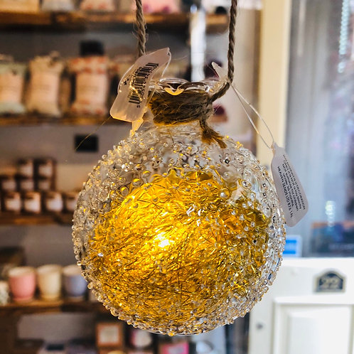 Edged Glass LED Bauble