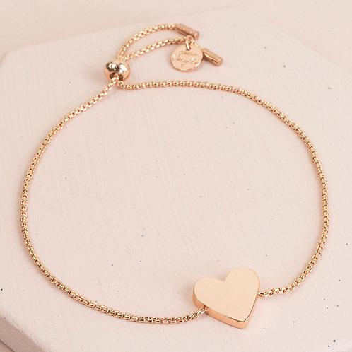 Box Chain Heart Bracelet