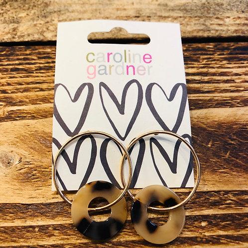 Gold and Tortoiseshell Earrings