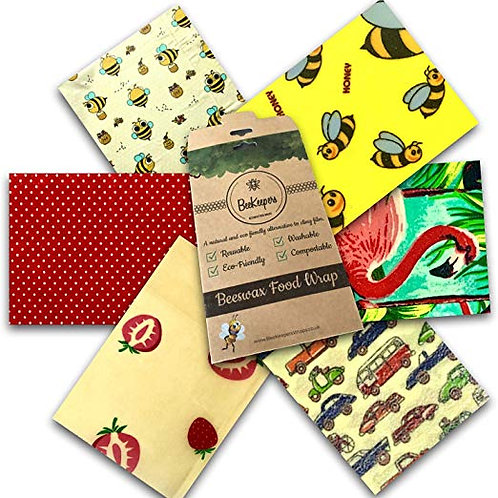 Beeswax Wraps - Set of 6
