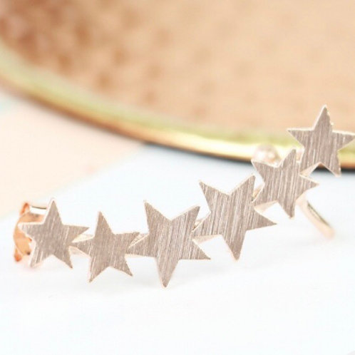 Single Rose Gold Star Ear Cuff