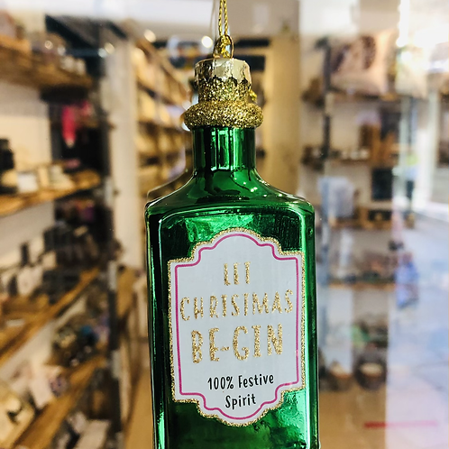 Green Let Christmas Be-Gin Bauble