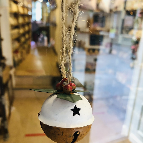 Christmas Pudding Hanging Bell Decoration