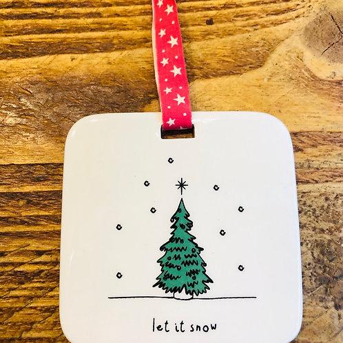 Let it Snow Christmas Hanger