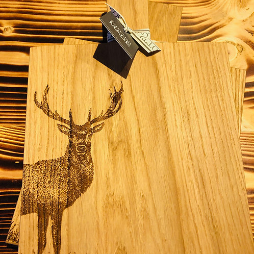Monarch Stag Etched Oak Paddle