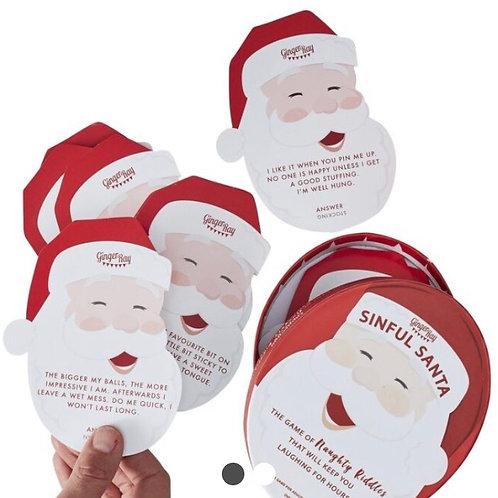 Sinful Santa Christmas Riddle Game