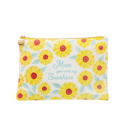 Sunflower Mum Cotton Pouch