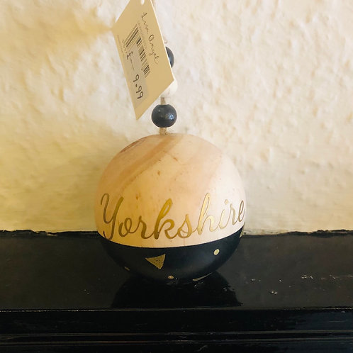 Wooden Yorkshire Bauble