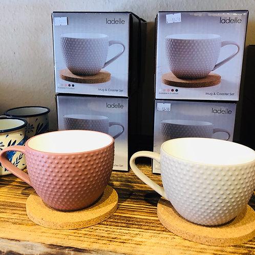 Textured Mug & Coaster Set