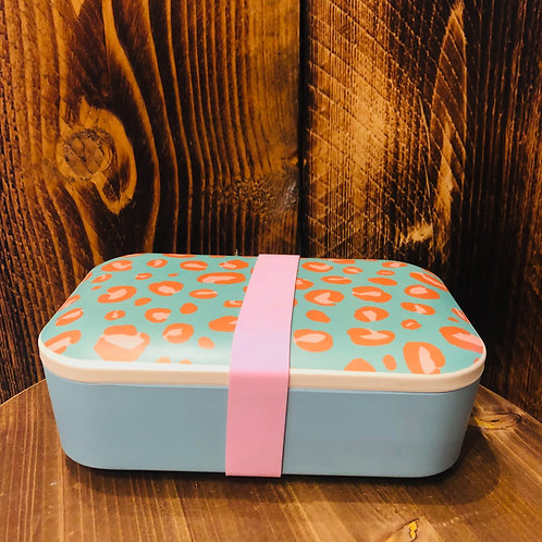 Leopard Bamboo Lunch Box