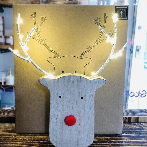 Reindeer with LED Antlers