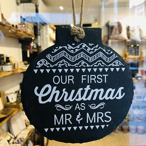 First Christmas as Mr & Mrs Slate