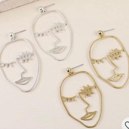 Winking Face Drop Earrings