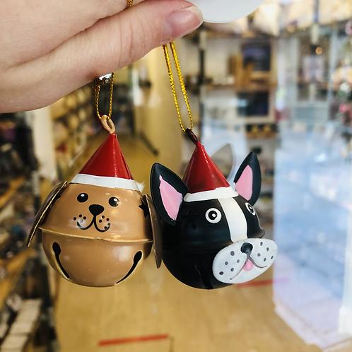 Festive Dog Hanging Bell Decoration