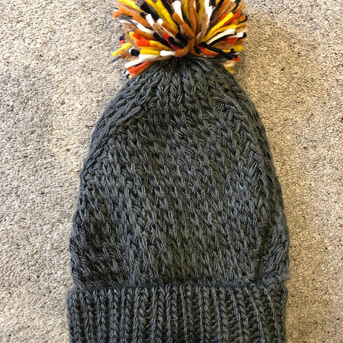 Ladies Chunky Knitted Bobble Hat