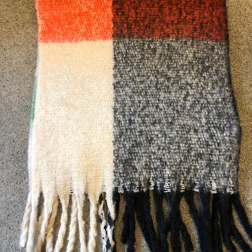 Red, Grey & Green Scarf