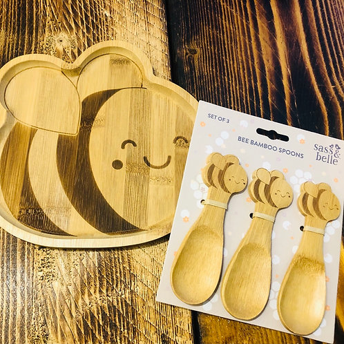 Bee Bamboo Cutlery Set