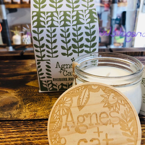 Agnes & Cat Rhubarb Jar Candle