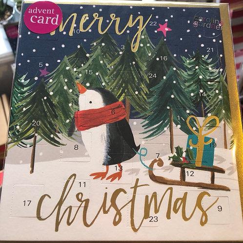 Penguin Advent Card