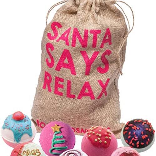 Bomb Cosmetics Santa Says Relax Bath Bomb Set