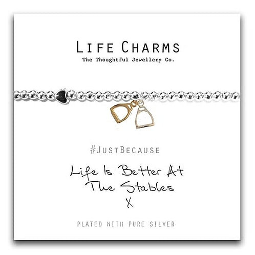 Life Is Better At The Stables Bracelet