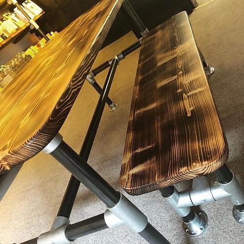 Bespoke Reclaimed Scaffold Board Bench