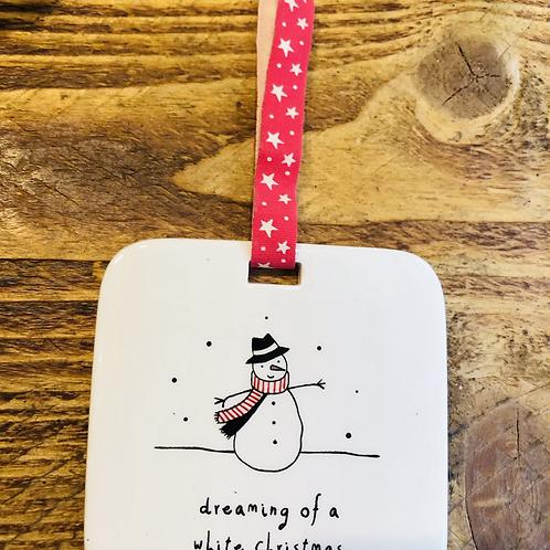 Dreaming of a White Christmas Hanger