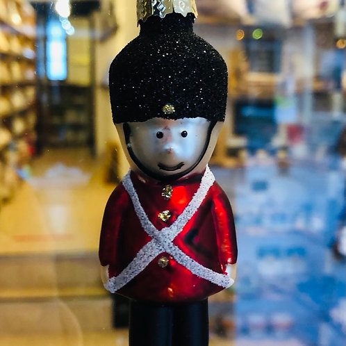 Hanging Glass Soldier Decoration