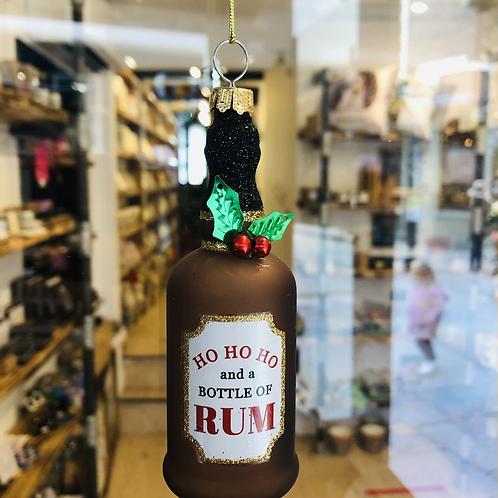 Ho Ho Ho Bottle of Rum Decoration