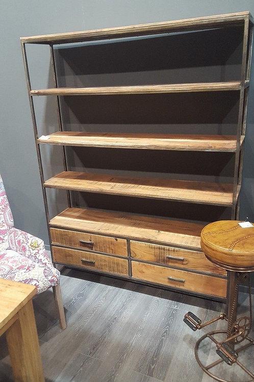 Libreria design loft ferro legno