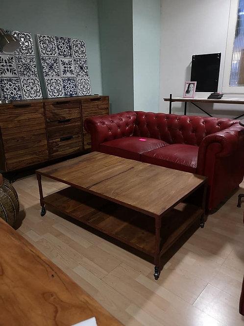 Tavolino salotto etnico design industriale