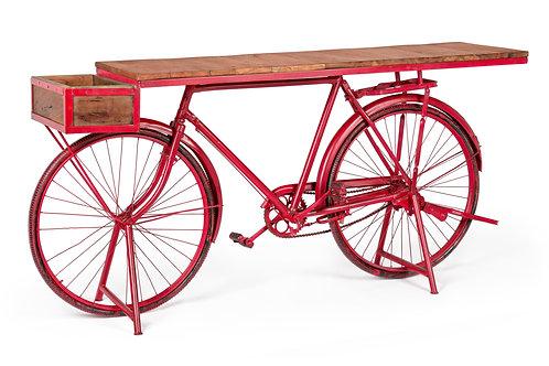console bicicletta ferro e legno