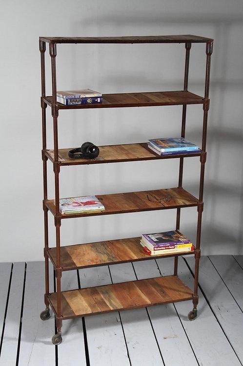 Libreria industriale etnico design