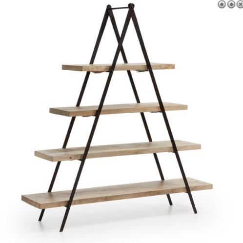 Libreria legno e ferro design industriale