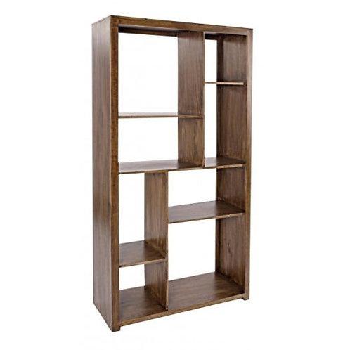 Libreria design vintage legno etnico