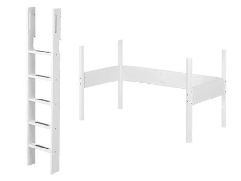 Scala e Kit per letto sopra-elevato White h184