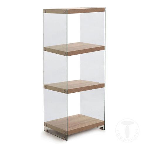 Libreria cristallo legno