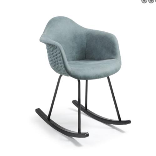sedia a dondolo design vintage