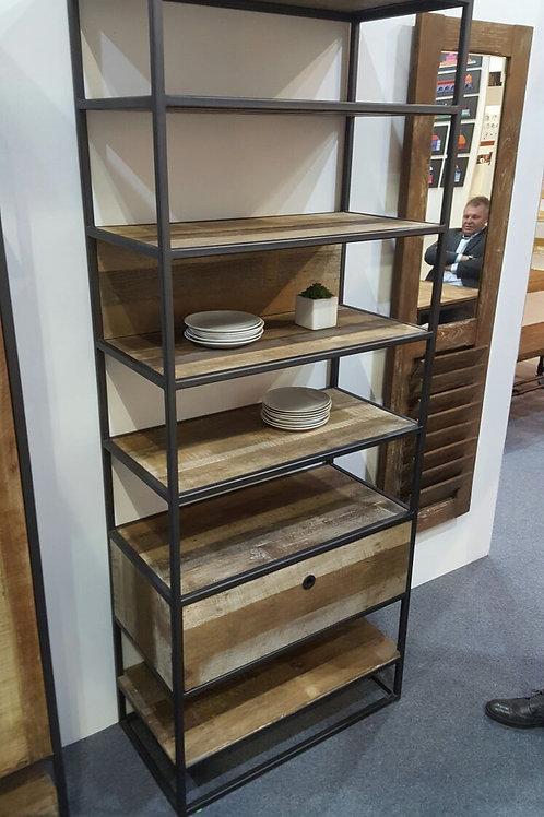 Libreria vintage industriale legno e ferro