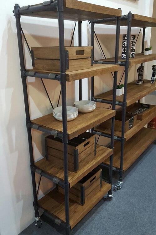 Libreria design vintage industriale
