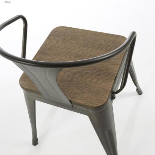 4 sedie design legno ferro